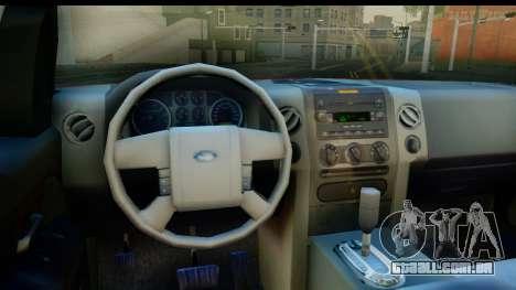 Ford F-150 4x4 para GTA San Andreas vista interior