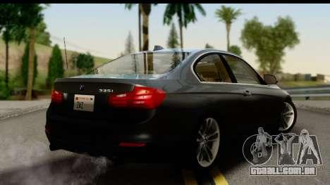 BMW 335i Coupe 2012 para GTA San Andreas esquerda vista