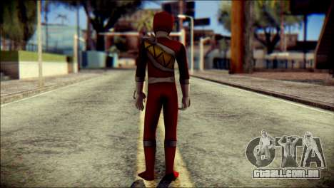 Power Rangers Kyoryu Red Skin para GTA San Andreas segunda tela