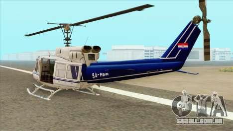 Agusta-Bell AB-212 Croatian Police para GTA San Andreas esquerda vista