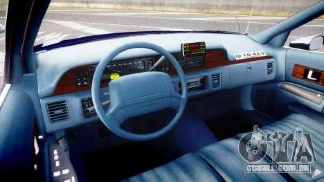 Chevrolet Caprice 1994 LCPD Auxiliary [ELS] para GTA 4 vista de volta