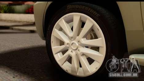 Toyota Land Cruiser 200 2013 para GTA San Andreas vista traseira