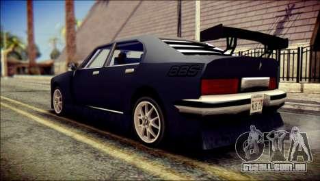 Sentinel GT para GTA San Andreas esquerda vista