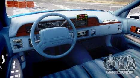 Chevrolet Caprice 1993 LCPD With Hubcabs [ELS] para GTA 4 vista de volta