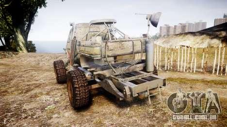 Militar caminhão blindado para GTA 4 traseira esquerda vista