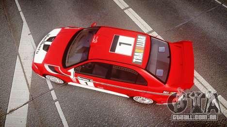 Mitsubishi Lancer Evolution VI 2000 Rally para GTA 4 vista direita