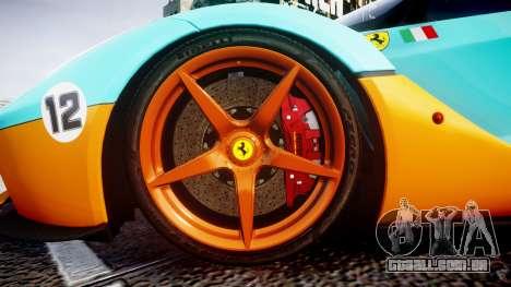 Ferrari LaFerrari 2013 HQ [EPM] PJ1 para GTA 4 vista de volta