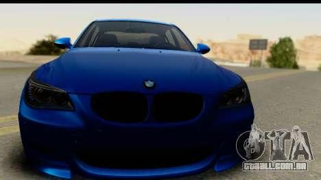 BMW M5 E60 Stanced para GTA San Andreas traseira esquerda vista