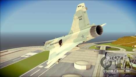 Dassault Mirage 2000-C FAB para GTA San Andreas esquerda vista