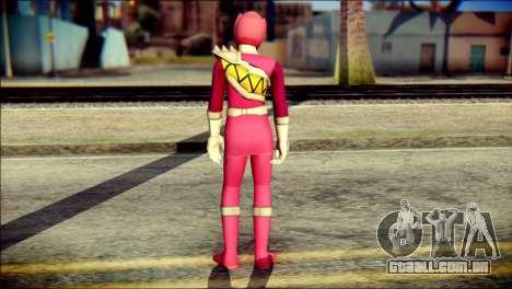Power Rangers Kyoryu Pink Skin para GTA San Andreas segunda tela