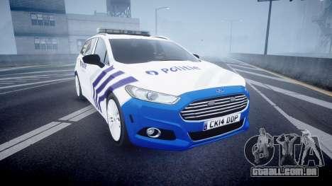 Ford Fusion Estate Belgian Police [ELS] Dog Unit para GTA 4