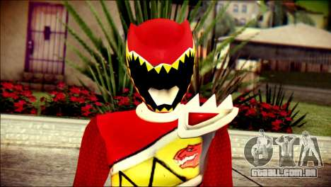 Power Rangers Kyoryu Red Skin para GTA San Andreas terceira tela