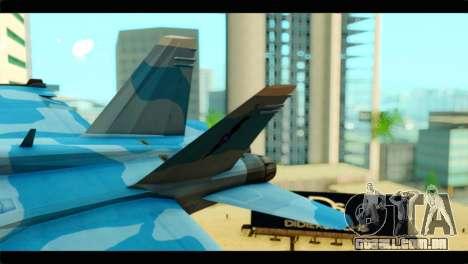 FA-18 Super Hornet Aggressor Squadron para GTA San Andreas traseira esquerda vista