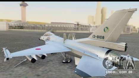 F-2A Zero White para GTA San Andreas esquerda vista