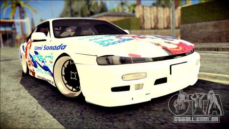 Nissan Silvia S14 Umi Sonoda Paintjob Itasha para GTA San Andreas