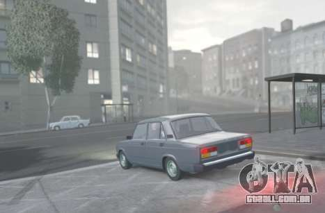 VAZ 2107 de Drenagem para GTA 4 esquerda vista
