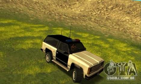 Beta Police Ranger para GTA San Andreas traseira esquerda vista