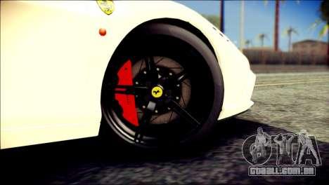 Ferrari 458 Speciale 2015 HQ para GTA San Andreas traseira esquerda vista