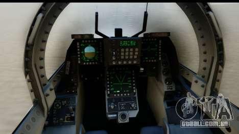 F-2A Zero White para GTA San Andreas traseira esquerda vista