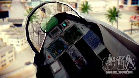 SU-37 Hexagon Madness para GTA San Andreas vista traseira