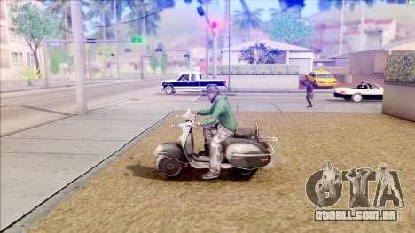 Piaggio Vespa para GTA San Andreas esquerda vista