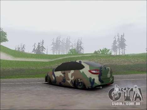Lada Granta Liftback Coupe para GTA San Andreas traseira esquerda vista