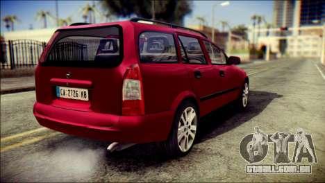 Opel Astra G Caravan para GTA San Andreas esquerda vista