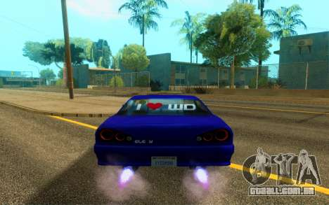 Elegy WorldDrift v1 para GTA San Andreas vista traseira