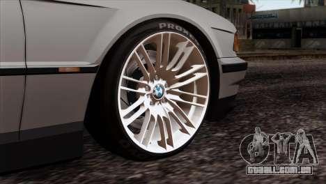 BMW 750iL E38 Romanian Edition para GTA San Andreas traseira esquerda vista