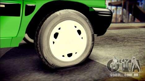 Kia Pride 141 Iranian Taxi para GTA San Andreas traseira esquerda vista