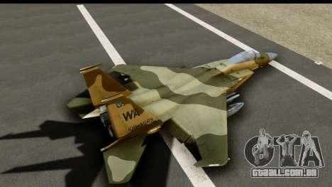 F-15C Eagle Desert Aggressor para GTA San Andreas vista interior