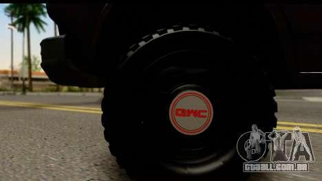 GMC Vandura G-1500 Payday 2 para GTA San Andreas vista traseira