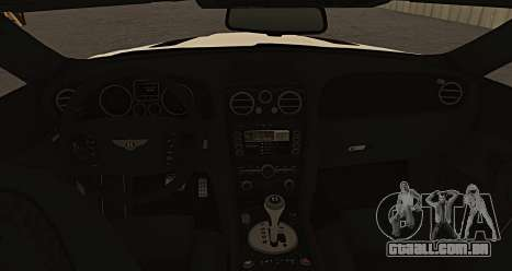 Bentley Continental GT Platinum Motorsport para GTA San Andreas traseira esquerda vista