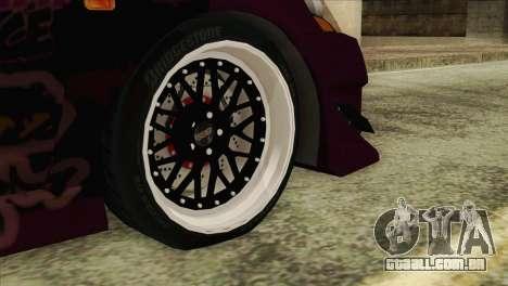 Acura RSX Hinata Itasha para GTA San Andreas traseira esquerda vista