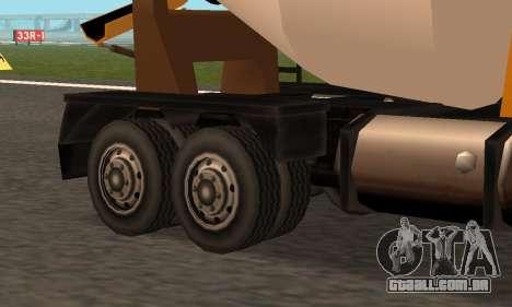 Cement Truck Fixed para GTA San Andreas vista traseira