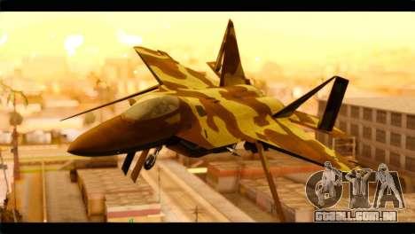 F-22 Raptor Desert Camouflage para GTA San Andreas vista traseira