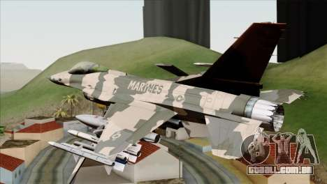F-16C Top Gun para GTA San Andreas esquerda vista