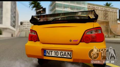 Subaru Impreza WRX STI 2005 Romanian Edition para GTA San Andreas vista direita
