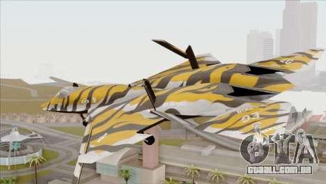 YF-23 Black Widow II Tigermeet para GTA San Andreas esquerda vista