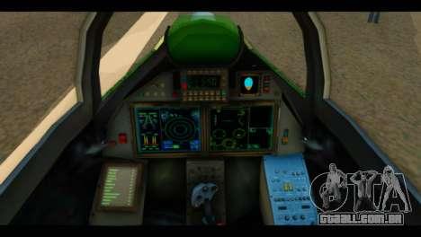 SU-37 Terminator Russian AF Camo para GTA San Andreas vista traseira