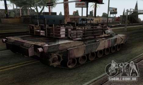M1A2 Abrams Autumn Camo para GTA San Andreas esquerda vista