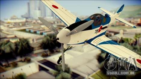 P-39N Airacobra JASDF Blue Impulse para GTA San Andreas vista traseira
