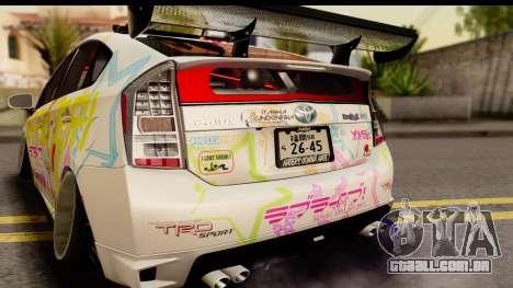 Toyota Prius Hybrid Eri Ayase Love Live Itasha para GTA San Andreas vista direita