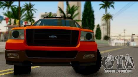 Ford F-150 4x4 para GTA San Andreas traseira esquerda vista