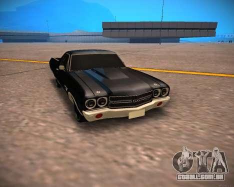 Chevrolet El Camino SS Green Hornet para GTA San Andreas esquerda vista