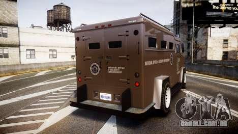 GTA V Brute Police Riot [ELS] skin 1 para GTA 4 traseira esquerda vista
