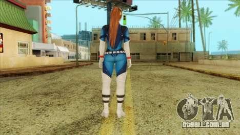 Dead Or Alive 5 LR Kasumi Fighter Force para GTA San Andreas segunda tela