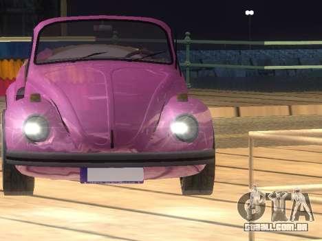 Volkswagen Beetle 1984 para GTA San Andreas interior