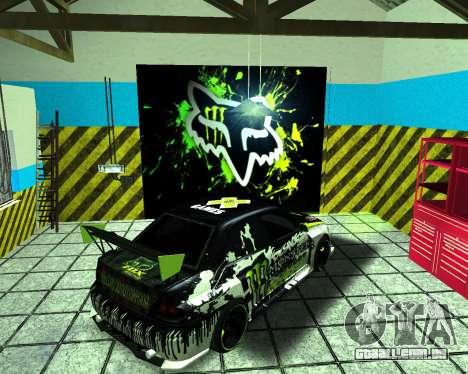 Mitsubishi Lancer Evolution IX Monster Energy DC para GTA San Andreas traseira esquerda vista