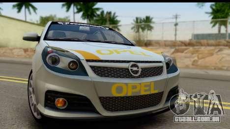 Opel Vectra para GTA San Andreas traseira esquerda vista